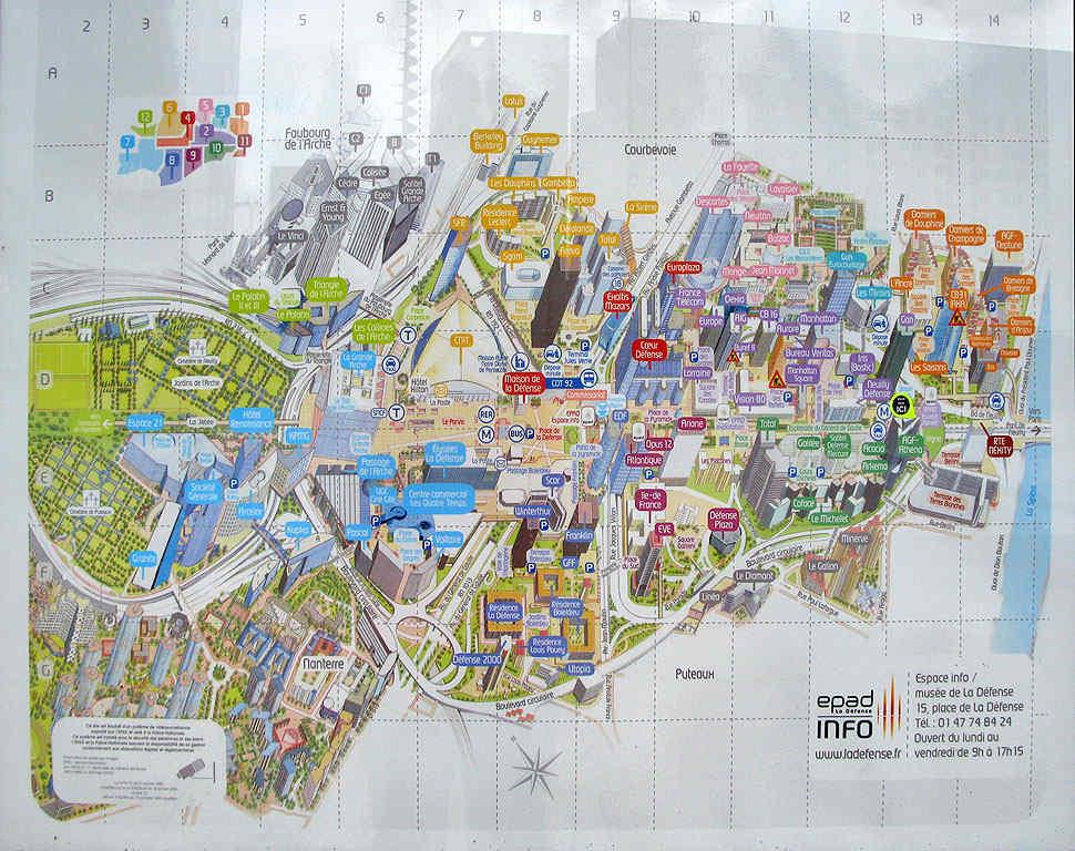 Карта-схема Дефанса